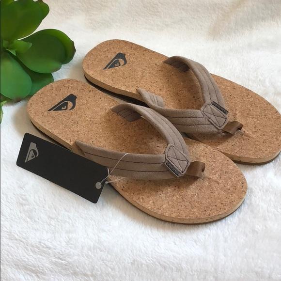 657c6efcb14 NWT Men s Quiksilver Carver Cork Sandals Size 9